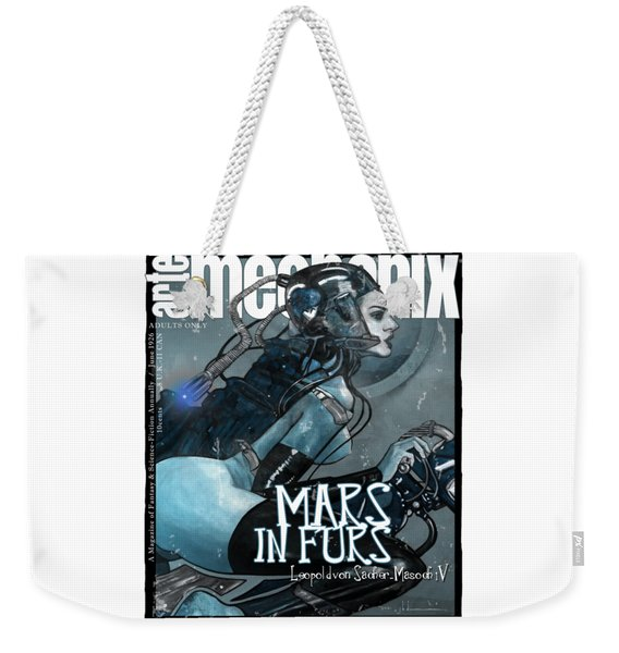 arteMECHANIX 1926 MARS IN FURS GRUNGE Weekender Tote Bag
