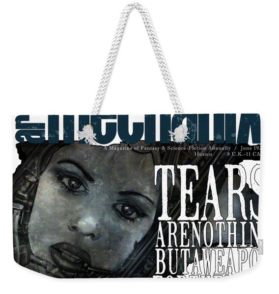 arteMECHANIX 1927 A WEAPON FOR THE WEAK  GRUNGE Weekender Tote Bag