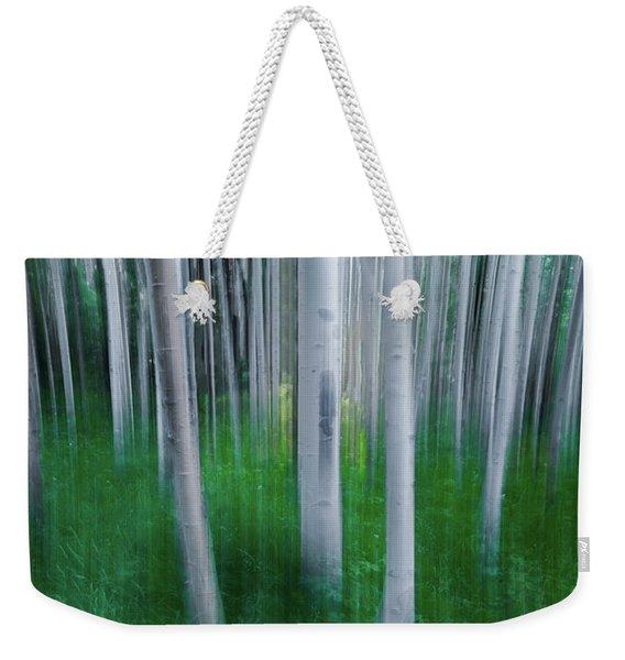 Artistic Aspens Panorama Weekender Tote Bag