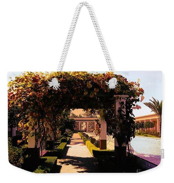 Artistic Courtyard Getty Villa  Weekender Tote Bag