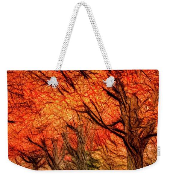 Artistic Four Fall Trees Weekender Tote Bag
