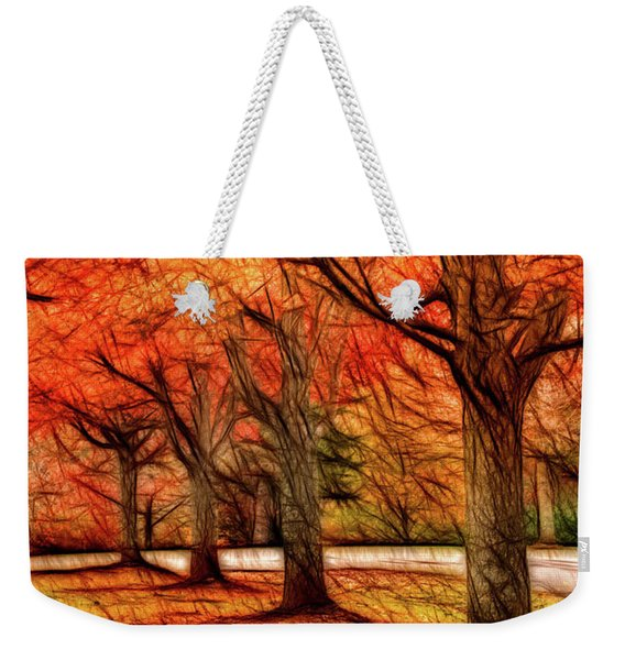 Artistic Four Fall Trees Weekender Tote Bag