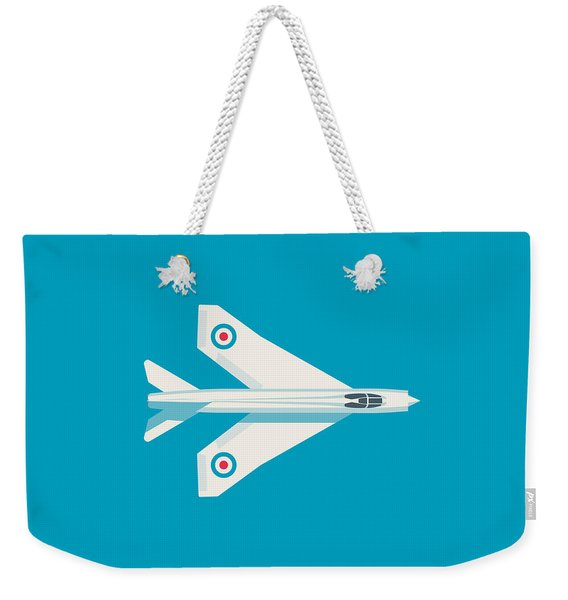 English Electric Lightning Fighter Jet Aircraft - Blue Weekender Tote Bag