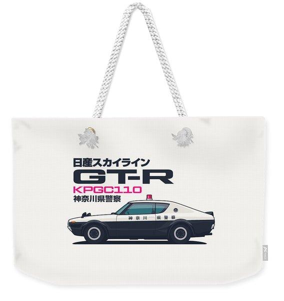 Kpgc110 Gt-r Japan Police Car Weekender Tote Bag