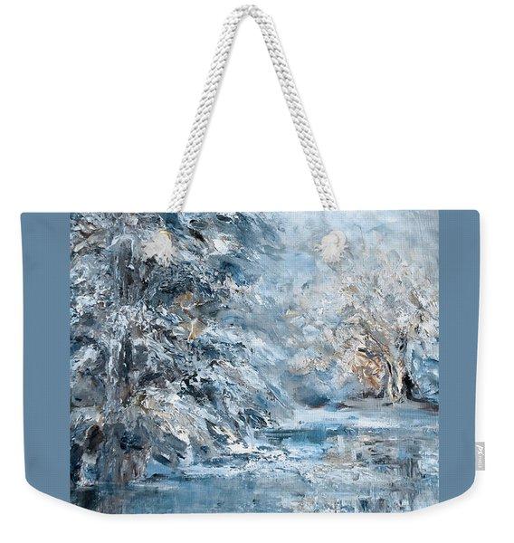 In The Snowy Silence Weekender Tote Bag
