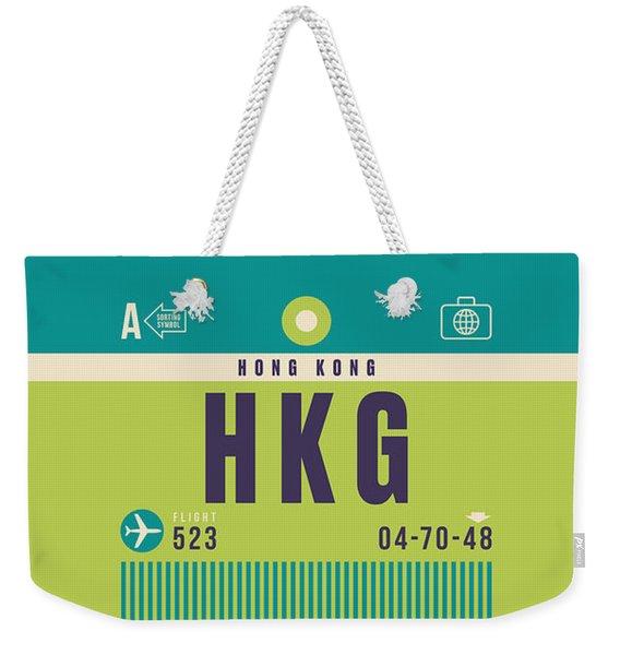 Retro Airline Luggage Tag - Hkg Hong Kong Kai Tak Weekender Tote Bag
