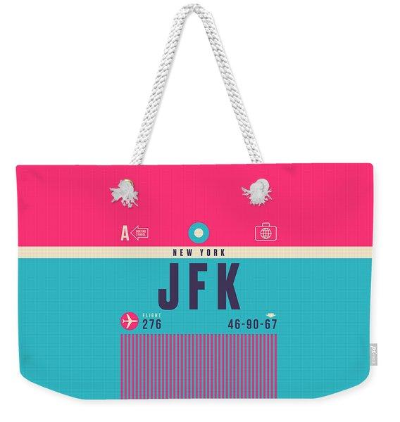 Retro Airline Luggage Tag - Jfk New York John F. Kennedy Weekender Tote Bag