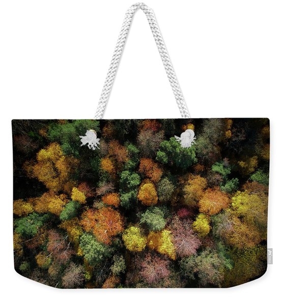 Autumn Forest - Aerial Photography Weekender Tote Bag