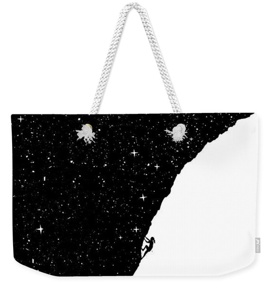 Night Climbing Weekender Tote Bag