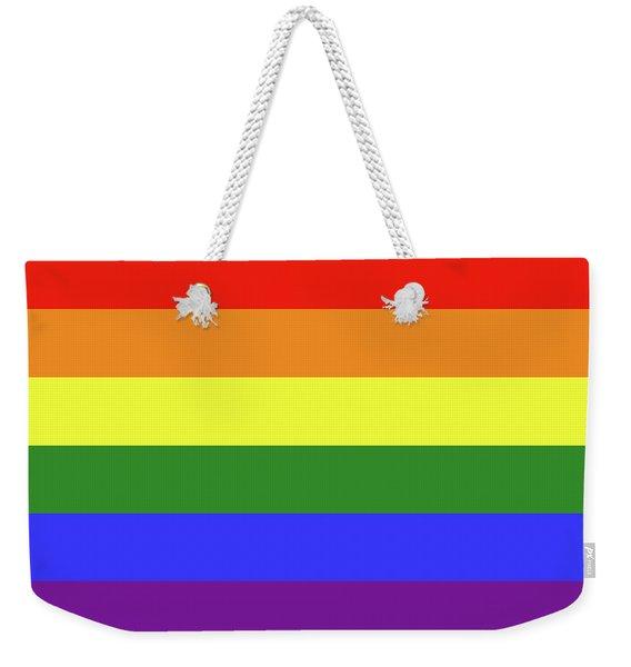 Lgbt 6 Color Rainbow Flag Weekender Tote Bag