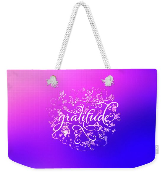 Purply Pink Gratitude Weekender Tote Bag