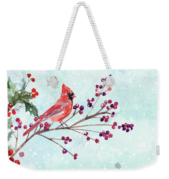 Woodland Holiday Peace Art Weekender Tote Bag