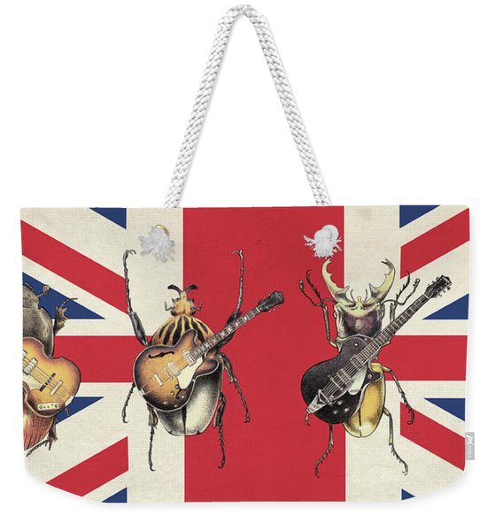 Meet The Beetles - Union Jack Weekender Tote Bag