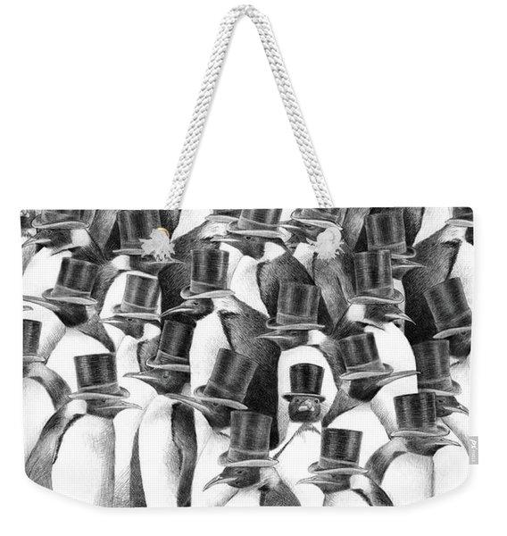 Penguin Party Weekender Tote Bag
