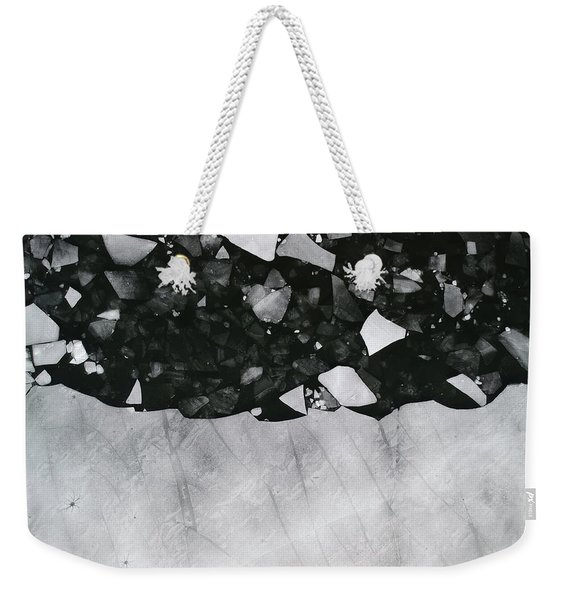 Winters Edge - Aerial Photography Weekender Tote Bag