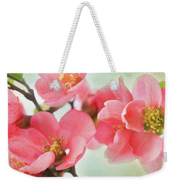 Coral Quince Weekender Tote Bag