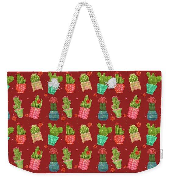 Cactus Friends Weekender Tote Bag