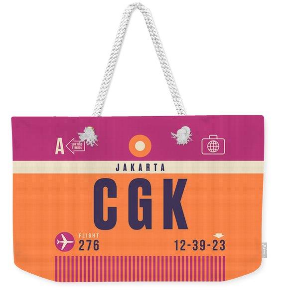 Retro Airline Luggage Tag - Cgk Jakarta Indonesia Weekender Tote Bag