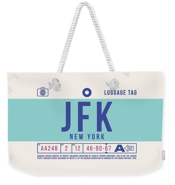 Retro Airline Luggage Tag 2.0 - Jfk New York United States Weekender Tote Bag