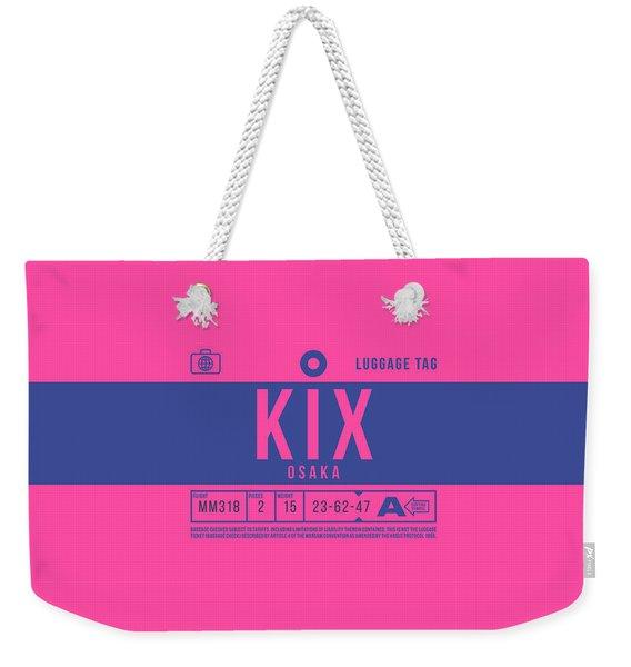 Retro Airline Luggage Tag 2.0 - Kix Osaka Kansai Japan Weekender Tote Bag