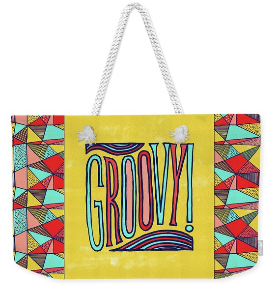Groovy Weekender Tote Bag