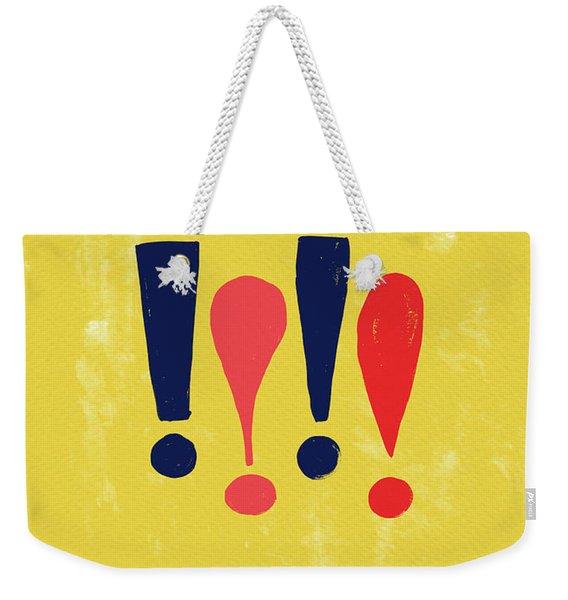 Exclamations Pop Art Weekender Tote Bag