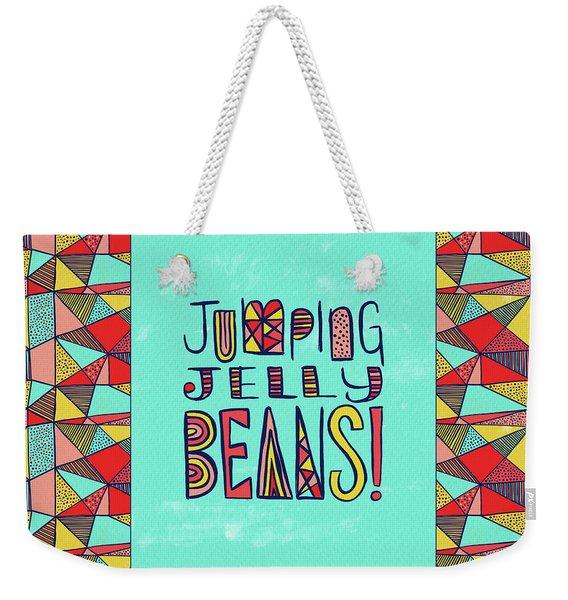 Jumping Jelly Beans Weekender Tote Bag