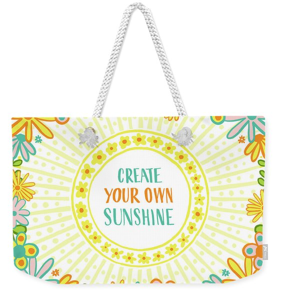 Create Your Own Sunshine Weekender Tote Bag