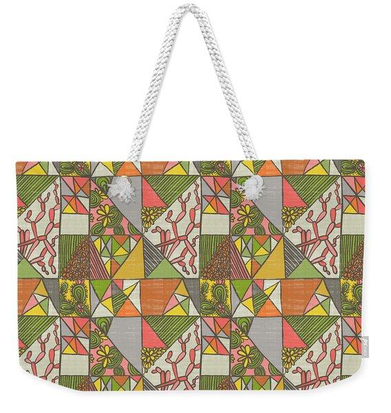Geometric Flowering Cacti Weekender Tote Bag