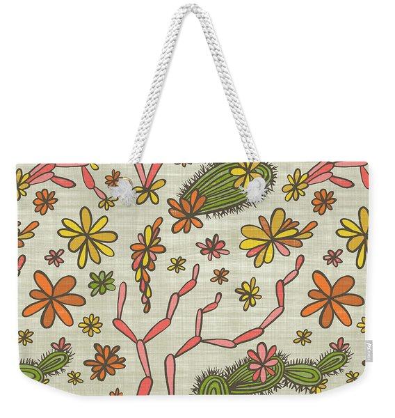 Flowering Cacti Elements Weekender Tote Bag