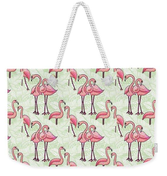 Flamingo Pattern Weekender Tote Bag