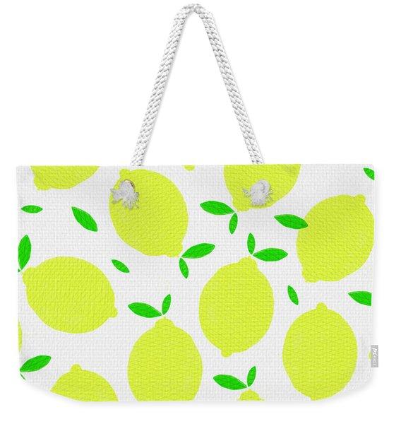 Sunny Lemon Pattern Weekender Tote Bag