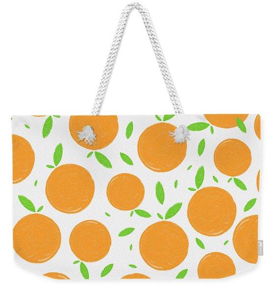 Sunny Citrus Pattern Weekender Tote Bag