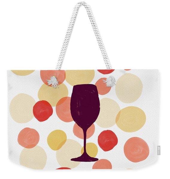 Bold Modern Wine Glass Art Weekender Tote Bag
