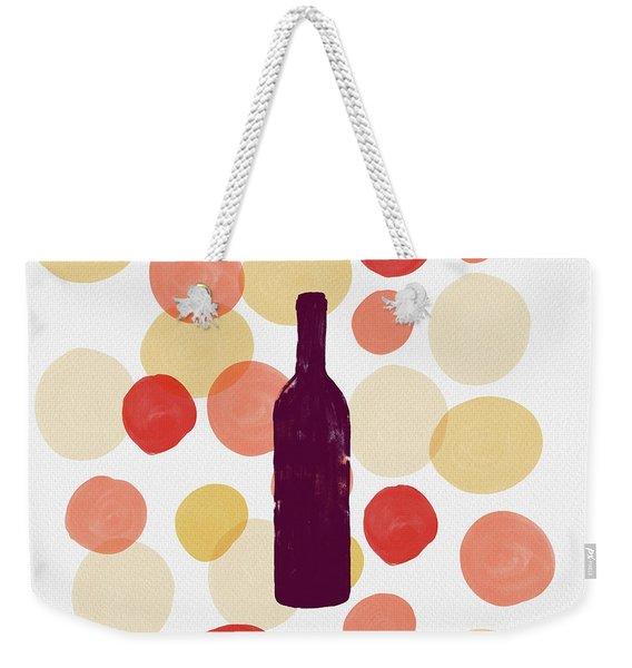 Bold Modern Wine Bottle Art Weekender Tote Bag