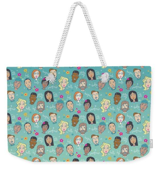 Say Hello People Weekender Tote Bag