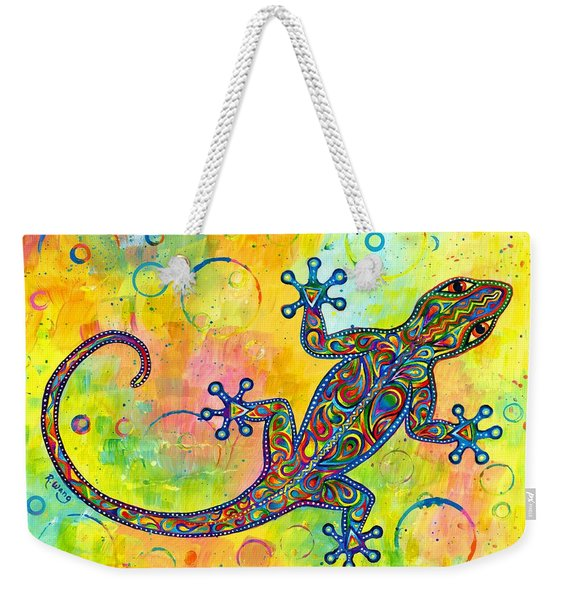 Electric Gecko Weekender Tote Bag