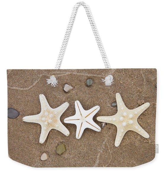 Starfish In The Sand Weekender Tote Bag