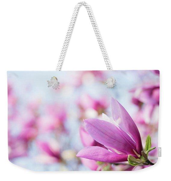 Magenta Magnolias Weekender Tote Bag