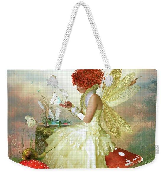 Butterfly Painter Weekender Tote Bag