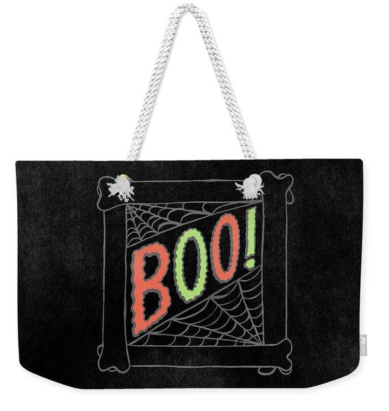 Boo Halloween Art Weekender Tote Bag