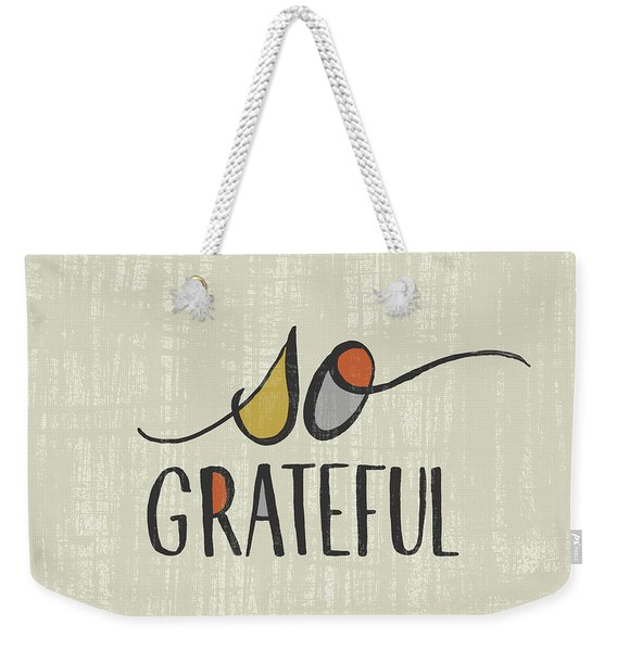 So Grateful Fall Art Weekender Tote Bag