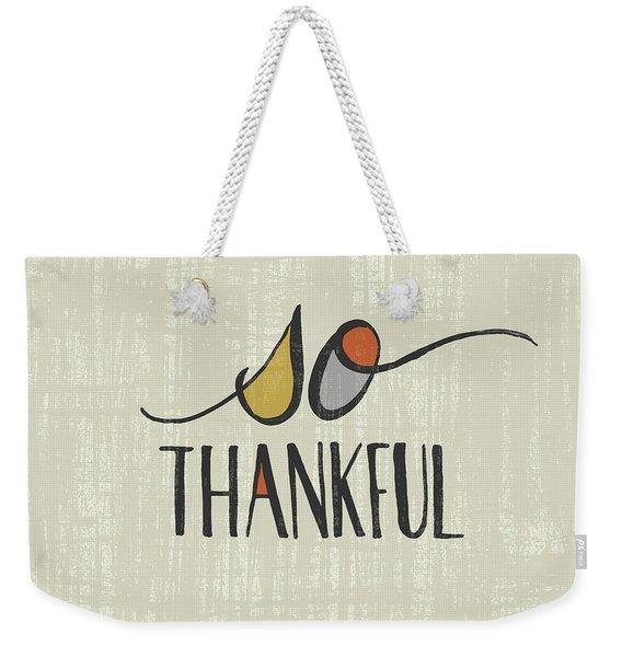 So Thankful Fall Art Weekender Tote Bag