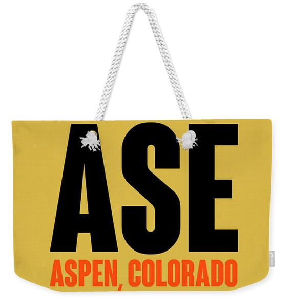 Ase Aspen Luggage Tag I Weekender Tote Bag