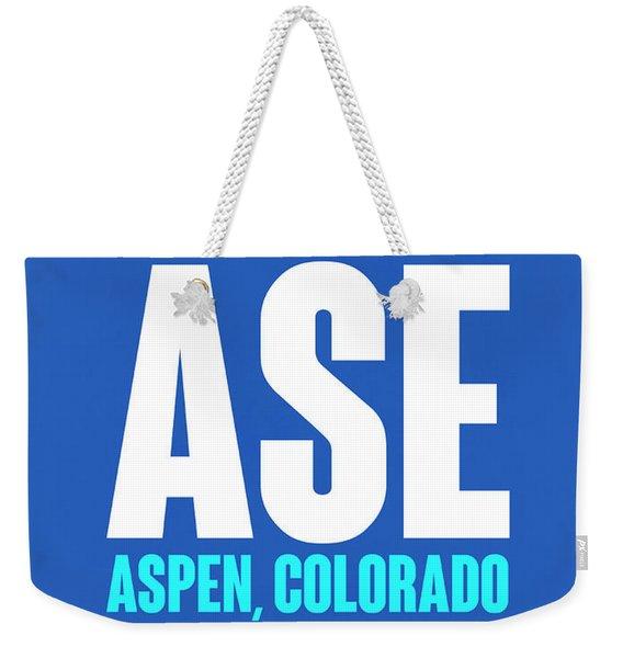 Ase Aspen Luggage Tag II Weekender Tote Bag