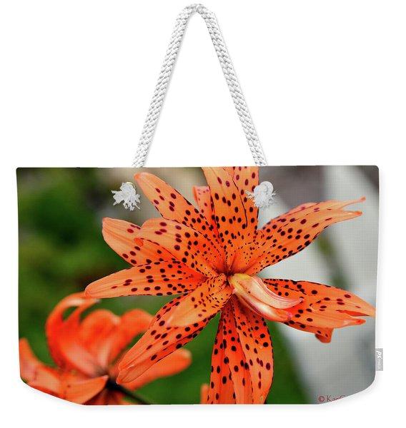 Asian Tiger Lily Weekender Tote Bag