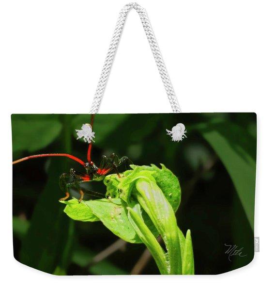 Assassin Bug Weekender Tote Bag