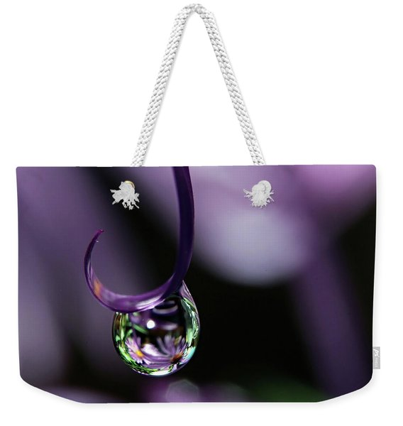 Weekender Tote Bag featuring the photograph Asters by Michelle Wermuth