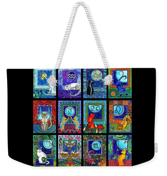 Astrology Cat Zodiacs Weekender Tote Bag