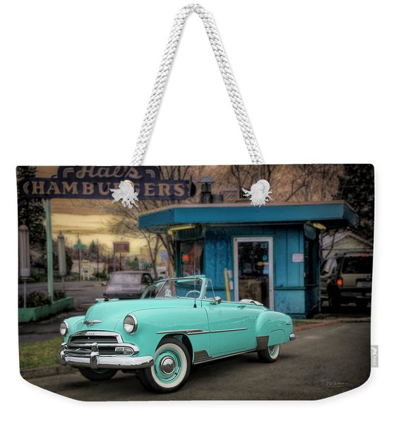 At Local Burger Stand Weekender Tote Bag